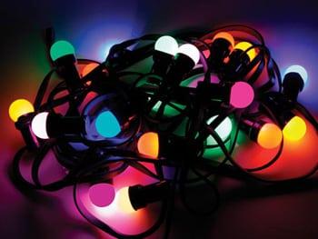 prikkabel/lichtsnoer 10 mtr kleur koppelbaar - Partyverhuur Leiden